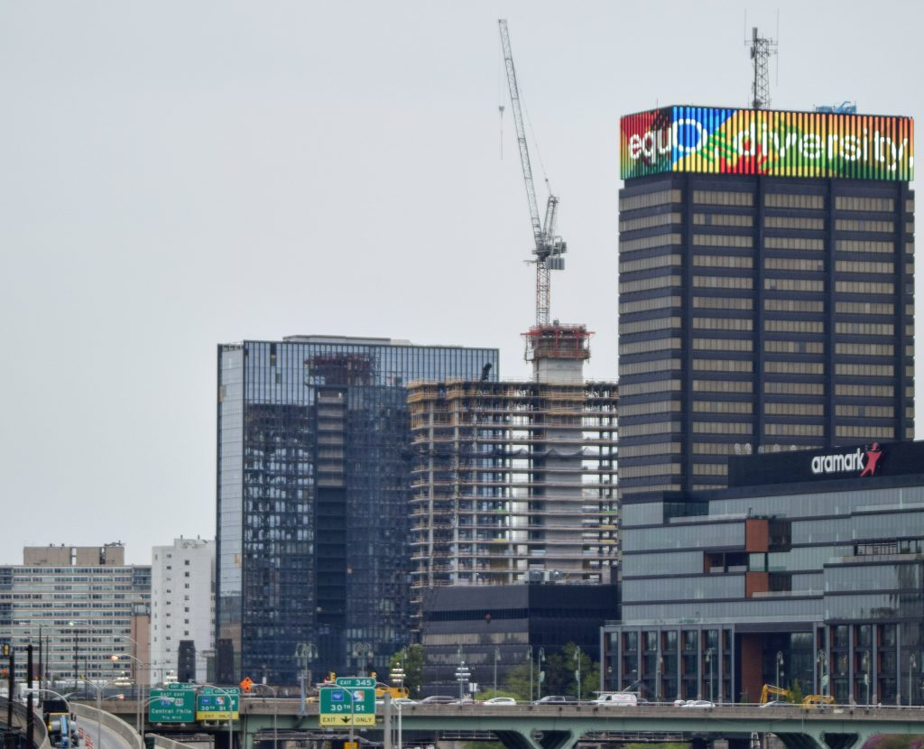Riverwalk north tower from South Street Bridge. Photo by Thomas Koloski