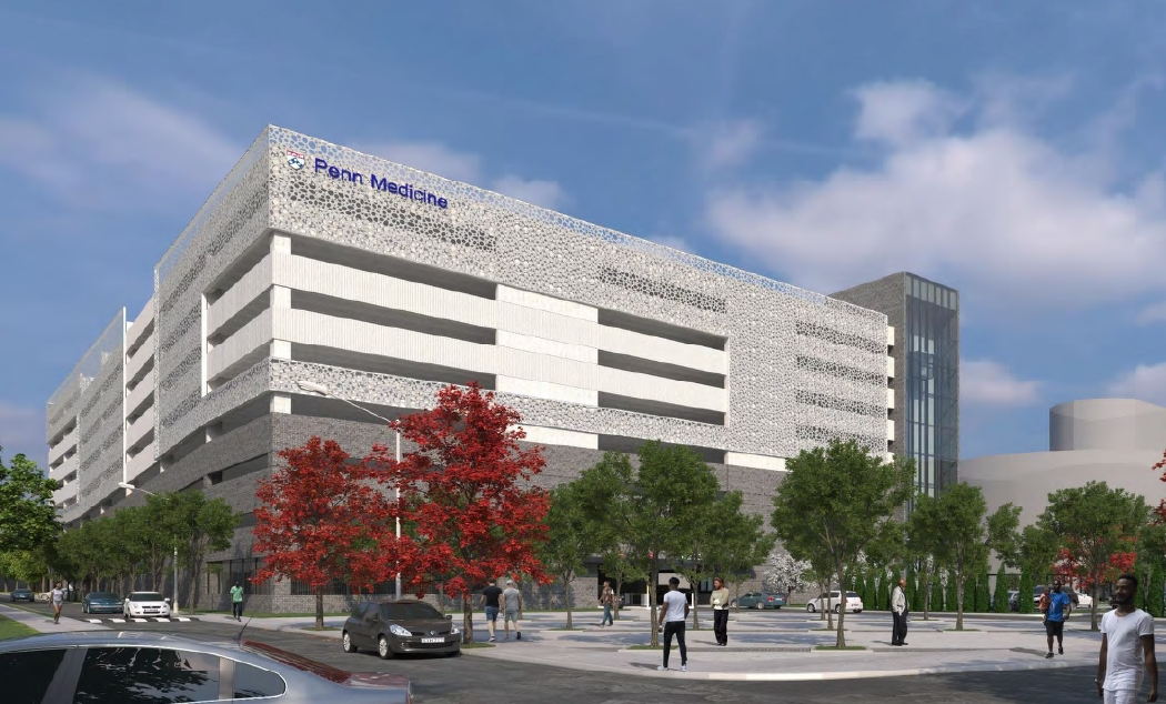 Penn Presbyterian Medical Center Parking Garage at 3800 Powelton Avenue. Credit: THA Consulting