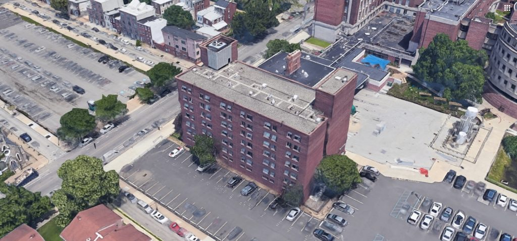 The 3910 Building at 3910 Powelton Avenue. Looking northeast. Credit: Google