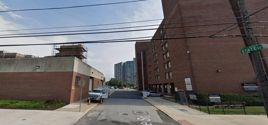 The parking lot at 3910 Building at 3910 Powelton Avenue. Looking south. Credit: Google
