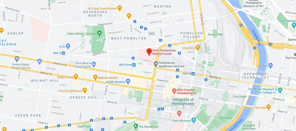 Penn Presbyterian Medical Center. Credit: Google