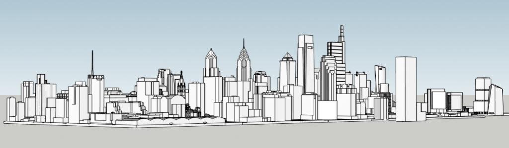 Future Philadelphia skyline looking southwest. Photo by Thomas Koloski