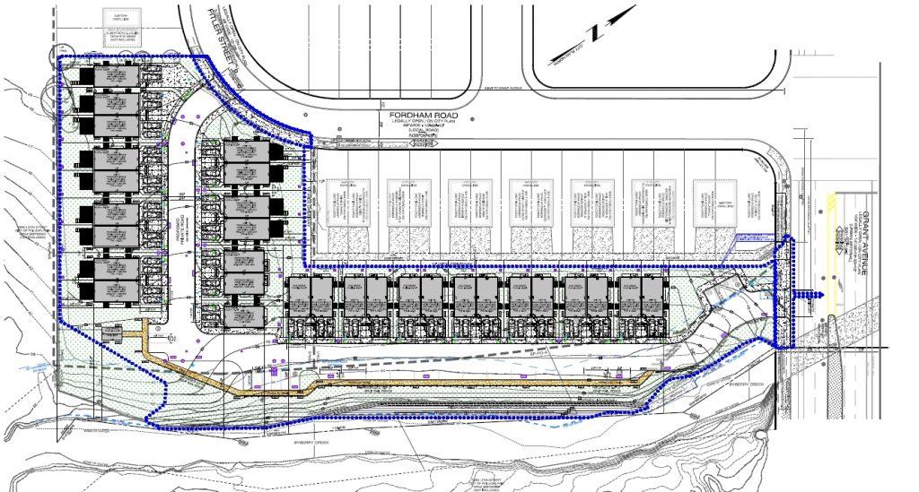 Original site plan for Torresdale Manor Residences at 3600 Grant Avenue. Credit: Abitare Design Studio via the Civic Design Review