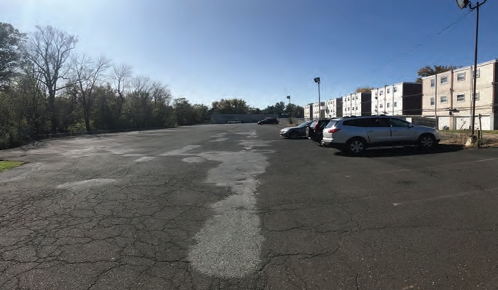 Current site conditions at 3600 Grant Avenue via the Civic Design Review