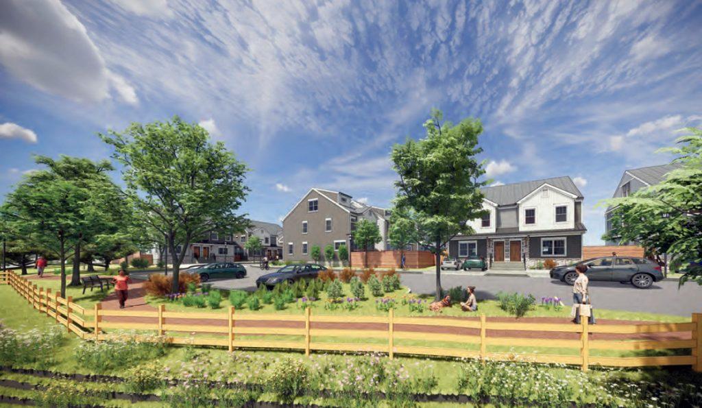 Torresdale Manor Residences at 3600 Grant Avenue. Credit: Abitare Design Studio via the Civic Design Review