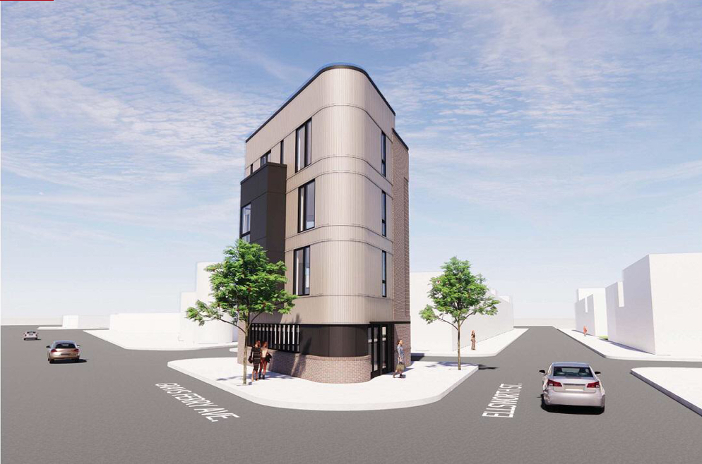 Rendering of 2701 Ellsworth Street. Credit: Gnome Architects.