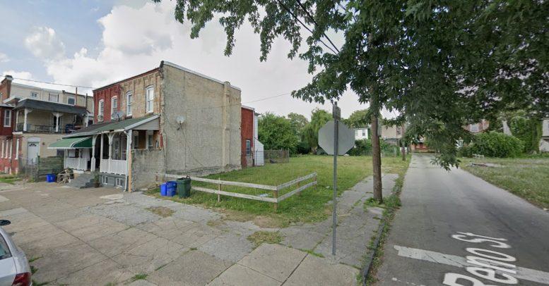 817-19 North 42nd Street. Looking northeast. Credit: Google