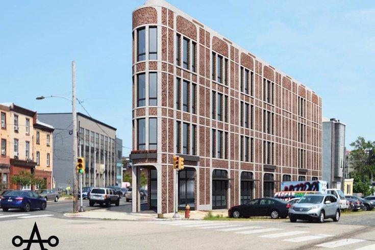 Rendering of propsoed Fishtown Flatiron building. Credit: Ambit Archutecture.