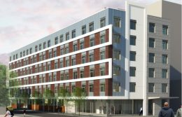 Rendering of 801 West Girard Avenue. Credit: PZS Architects.