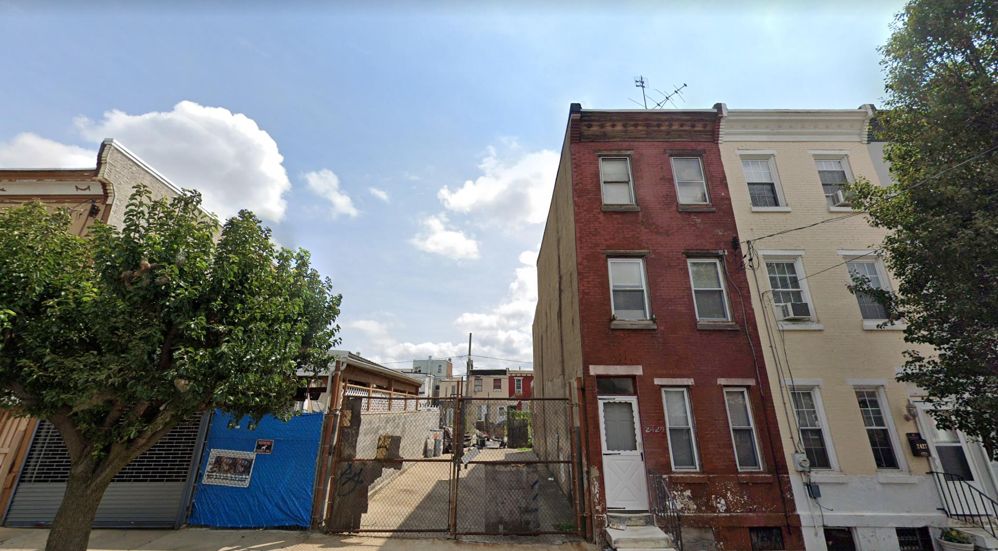 View of 2431 North Hancock Street. Credit: Google.