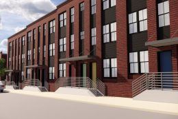 Rendering of the townhouse development via The Philly Voice.