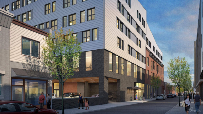 Rendering of Comley Commons. Credit: SgRA Architecture.