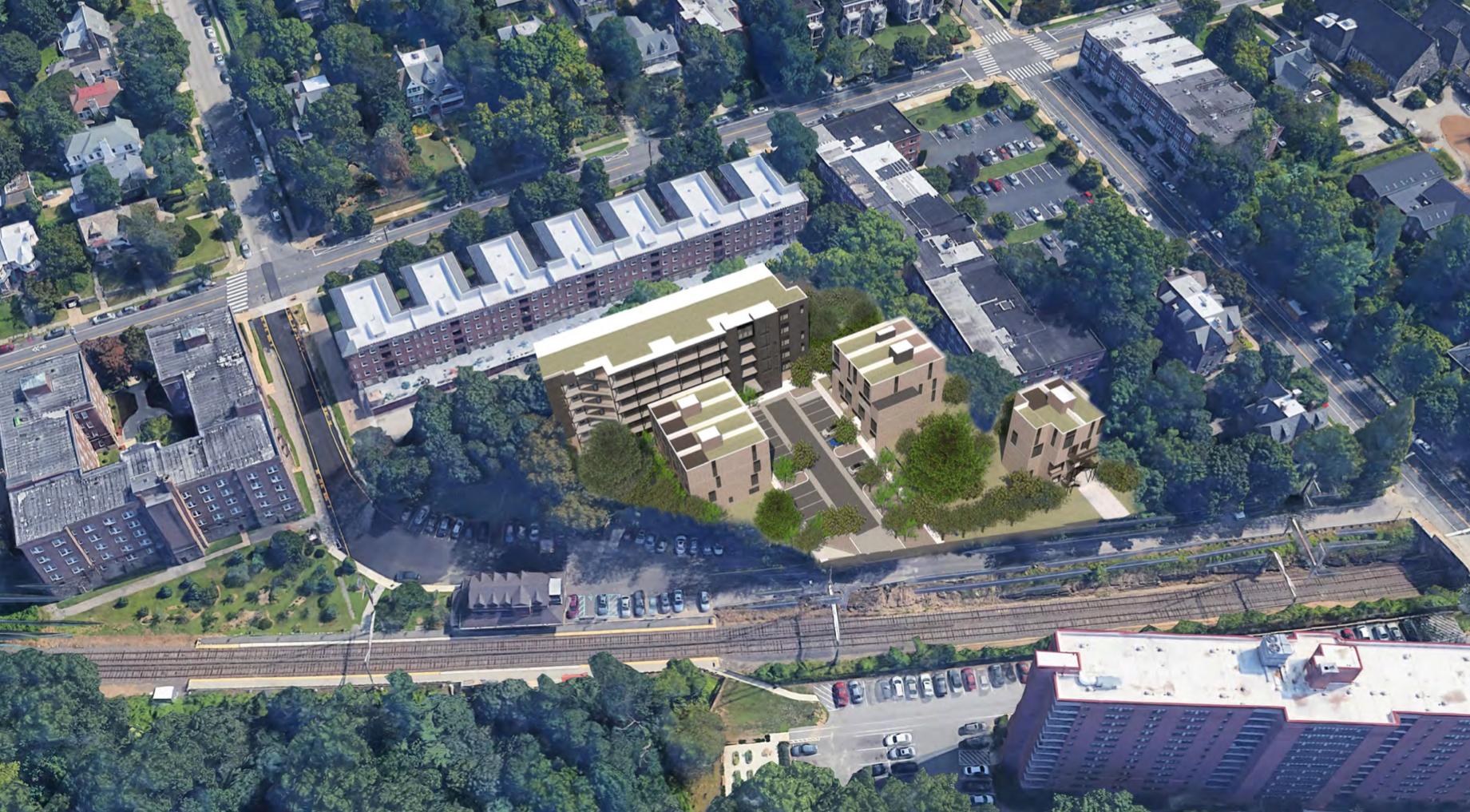Rendering of 6134-46 Wayne Avenue. Credit: ALMA Architecture.