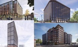 Combination of renderings of planned developments in the area.