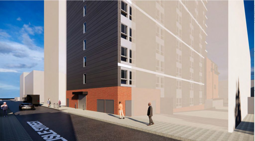 Rendering of 1314 North Broad Street. Credit: Wulff Architects.