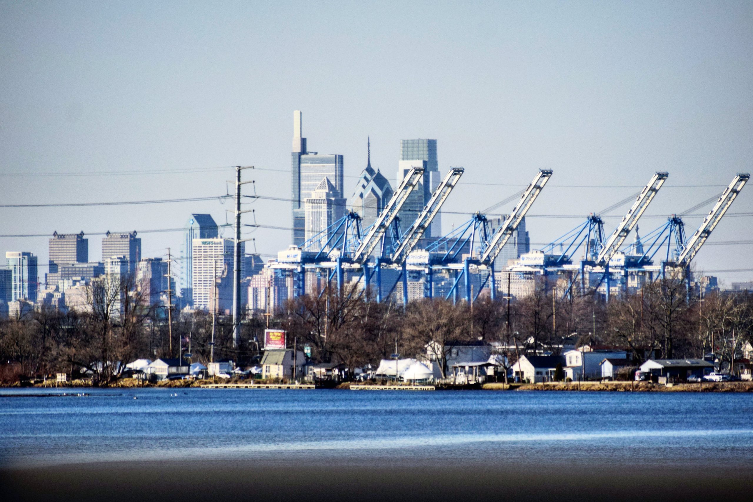 PhilaPort and the skyline from New Jersey. Photo by Thomas Koloski