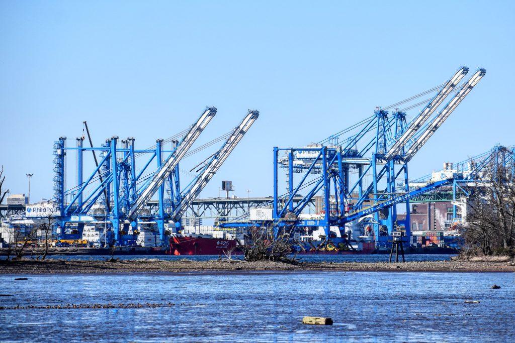 PhilaPort second set of cranes. Photo by Thomas Koloski