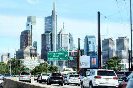Philadelphia skyline from the I-76. Photo by Thomas Koloski