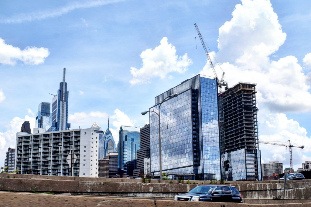 Riverwalk in the Philadelphia skyline. Photo by Thomas Koloski