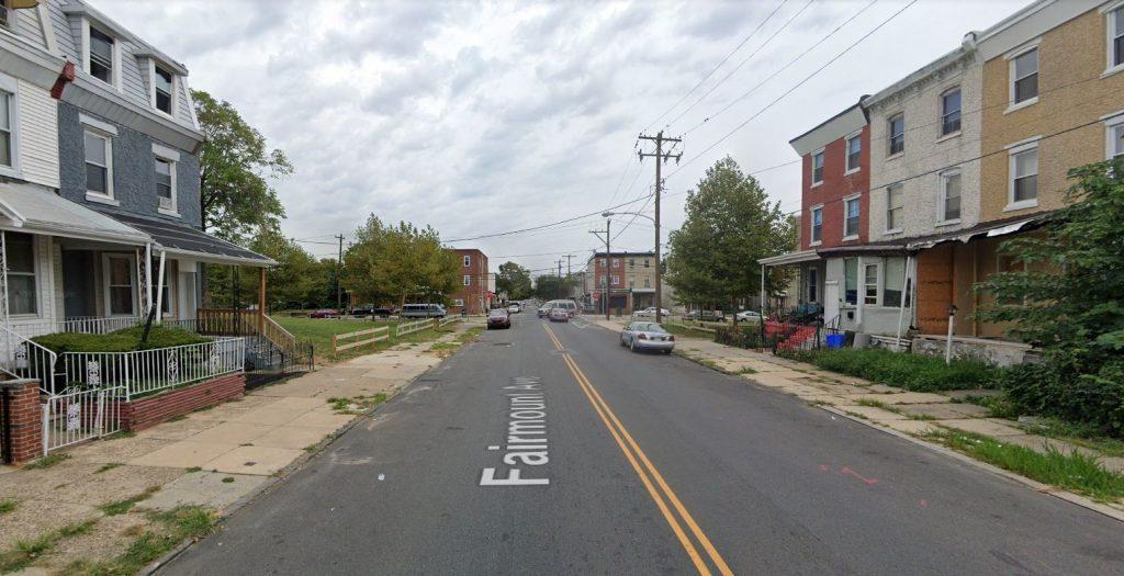 Fairmount Avenue, with 3913 Fairmount Avenue on the left. Looking east. Credit: Google Maps