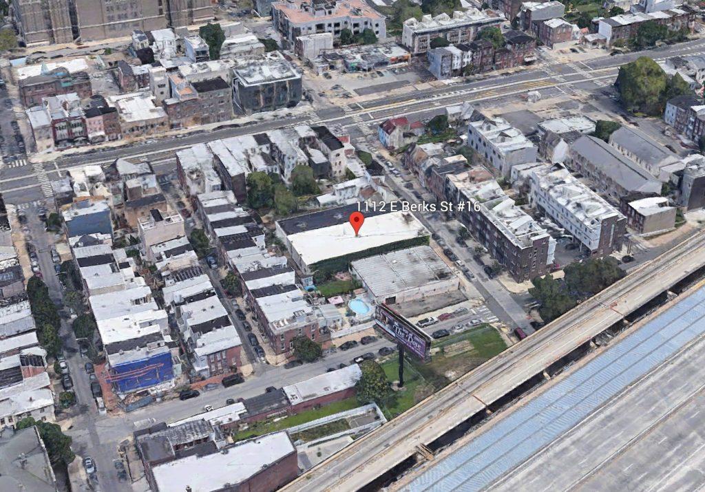 View of 1112-16 East Berks Street. Credit: Google.