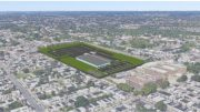 Aerial rendering of planned warehouse via Southwest CDC Glove Times.