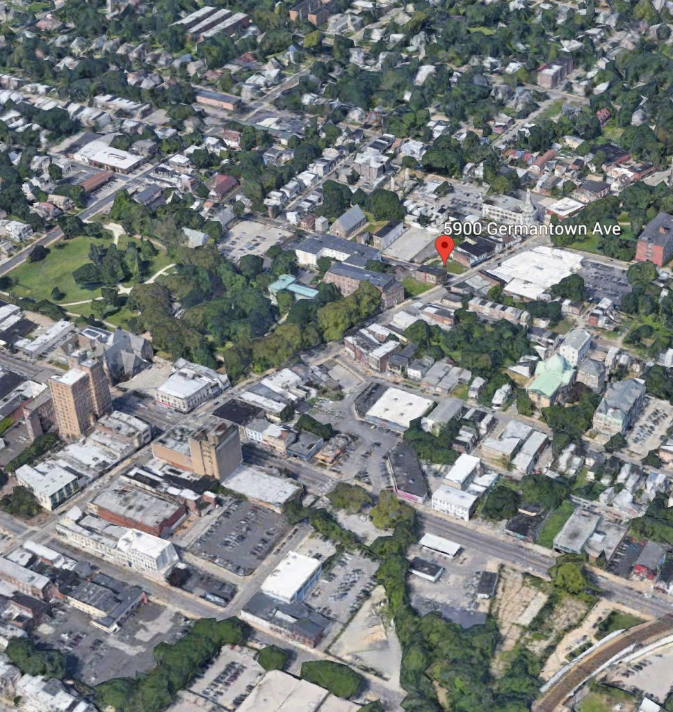Current view of 5900 Germantown Avenue. Credit: Google.