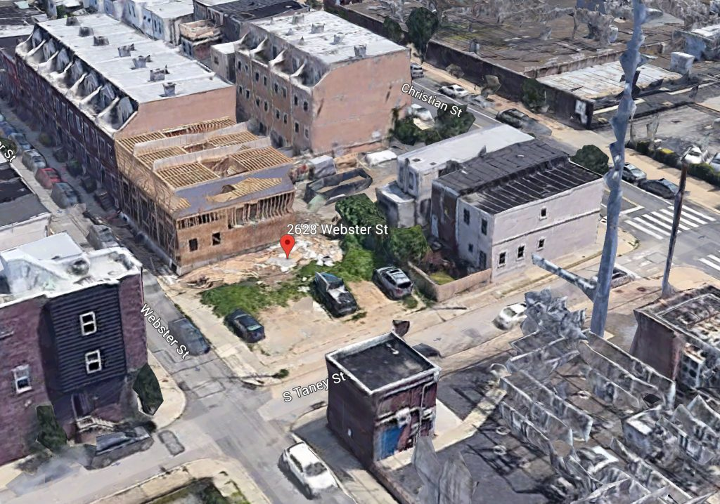 Current view of 2628-32 Webster Street. Credit: Google.