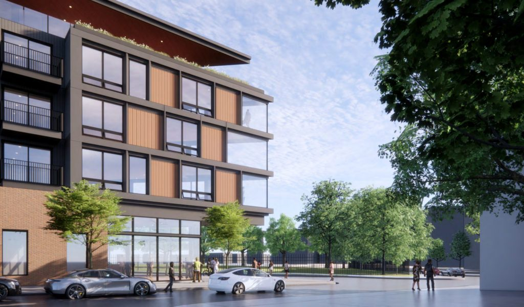Rendering of 801 North 19th Street. Credit: NORR.