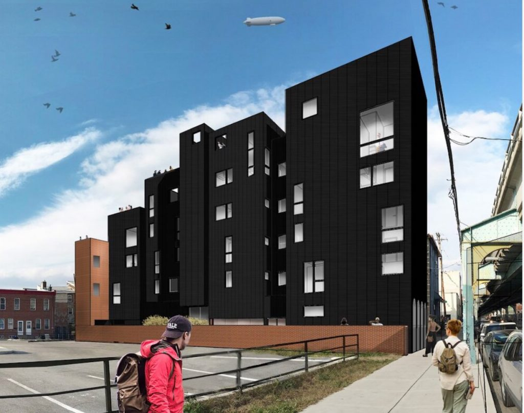 Former rendering of 1350 North Front Street. Credit: Bright Common.
