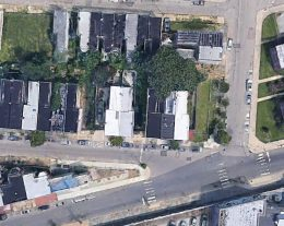 Aerial view of the 2200 Block of West Thompson Street. Credit: Google.