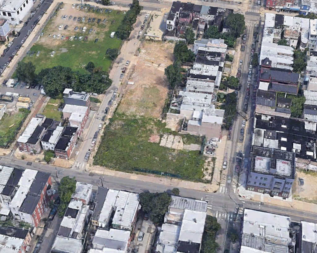 Aerial view of the former state of the site. Credit: Google.