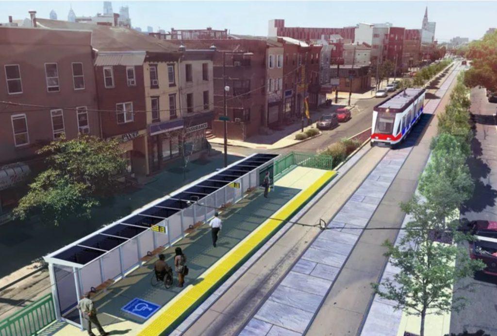 Rendering of Trolley Modernization. Credit: DVRPC.