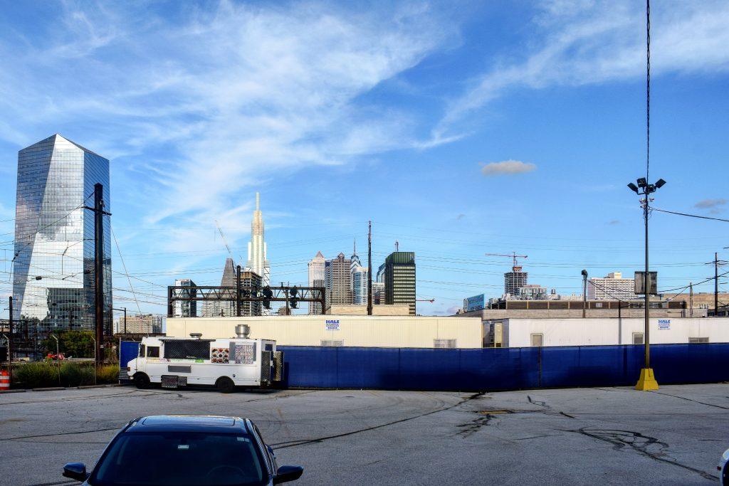 Bulletin Building (right) looking east. Photo by Thomas Koloski