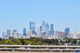 Philadelphia skyline from the I-95 2019. Photo by Thomas Koloski