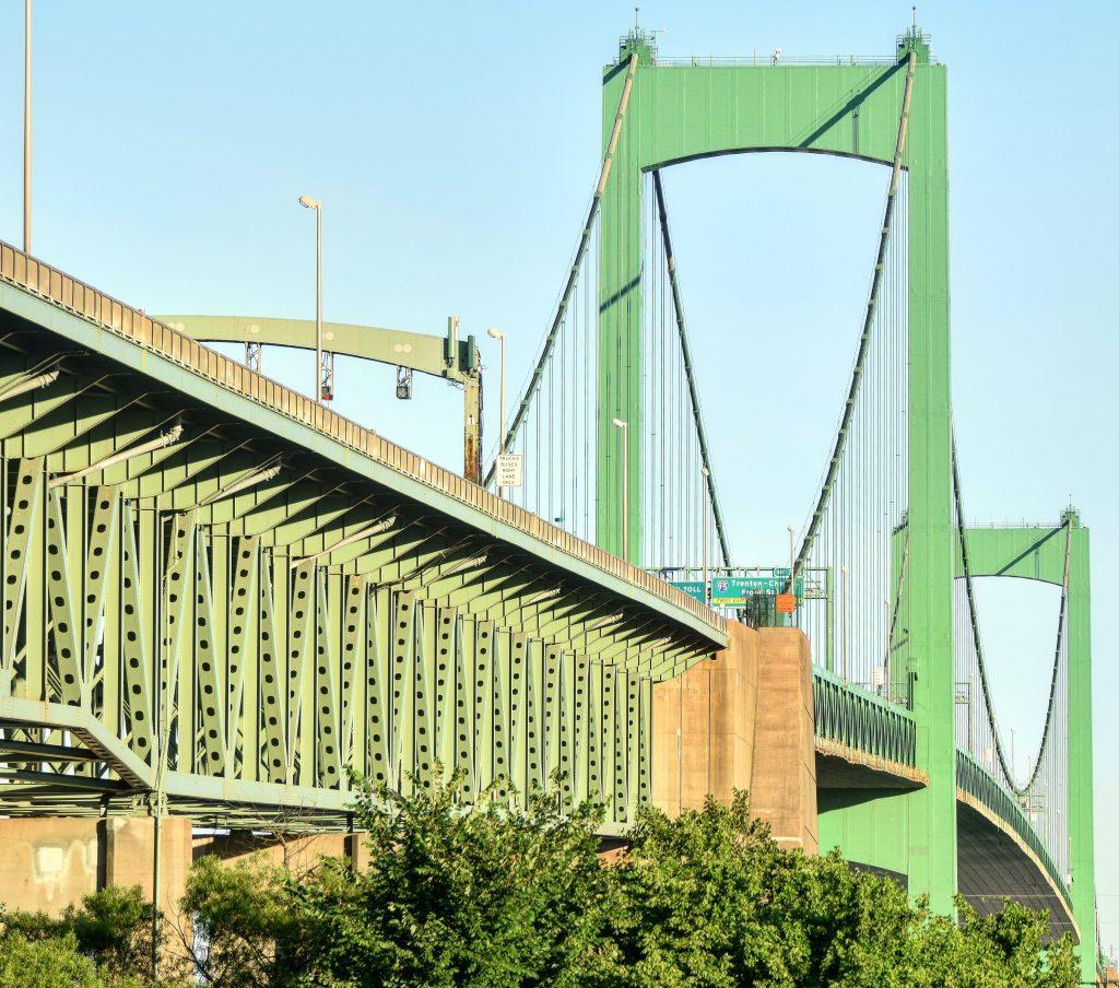 Walt Whitman Bridge from Collings Road in Gloucester City June 2018. Photo by Thomas Koloski