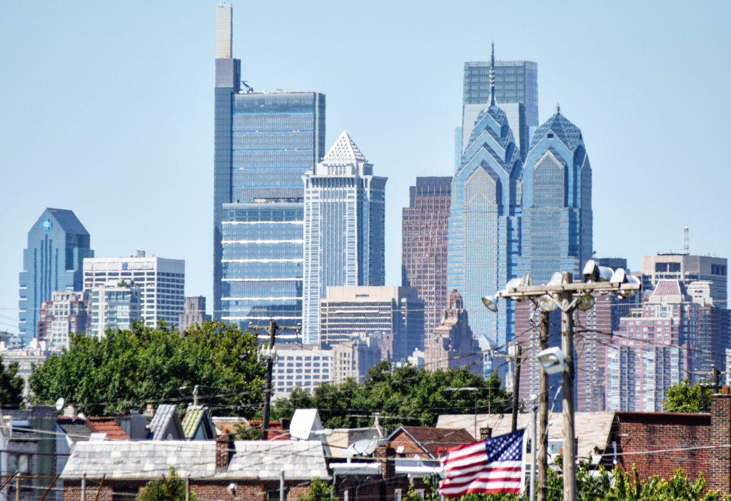Comcast Technology Center in the Philadelphia skyline. Photo by Thomas Koloski