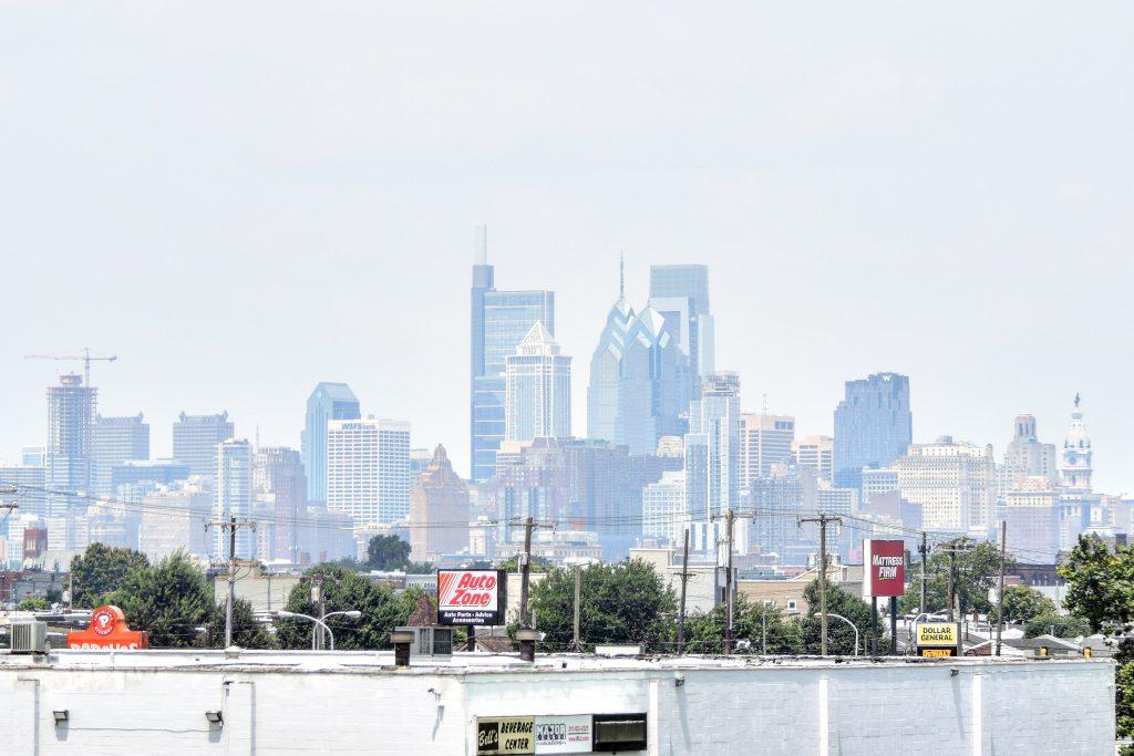 The Laurel Rittenhouse in the Philadelphia skyline from the I-95. Photo by Thomas Koloski