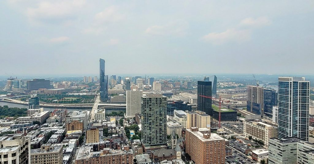 The view from The Laurel Rittenhouse looking west. Photo by Thomas Koloski