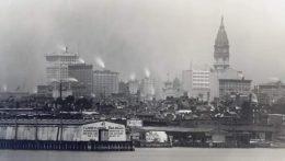 Philadelphia skyline 1910. Image via Old Images of Philadelphia on Facebook