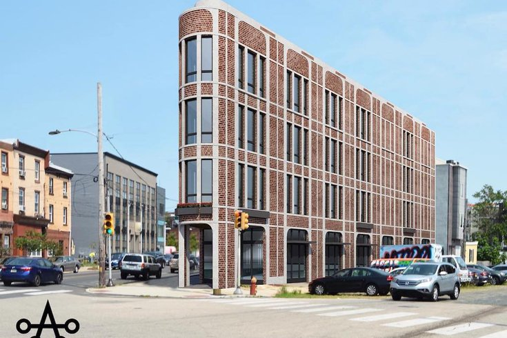 Rendering of 2401-05 Frankford Avenue. Credit: Ambit Architecture.