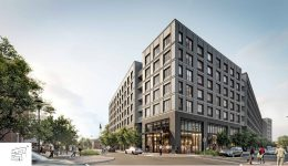 Rendering of 1200 Normandy Place. Credit: Digsau.