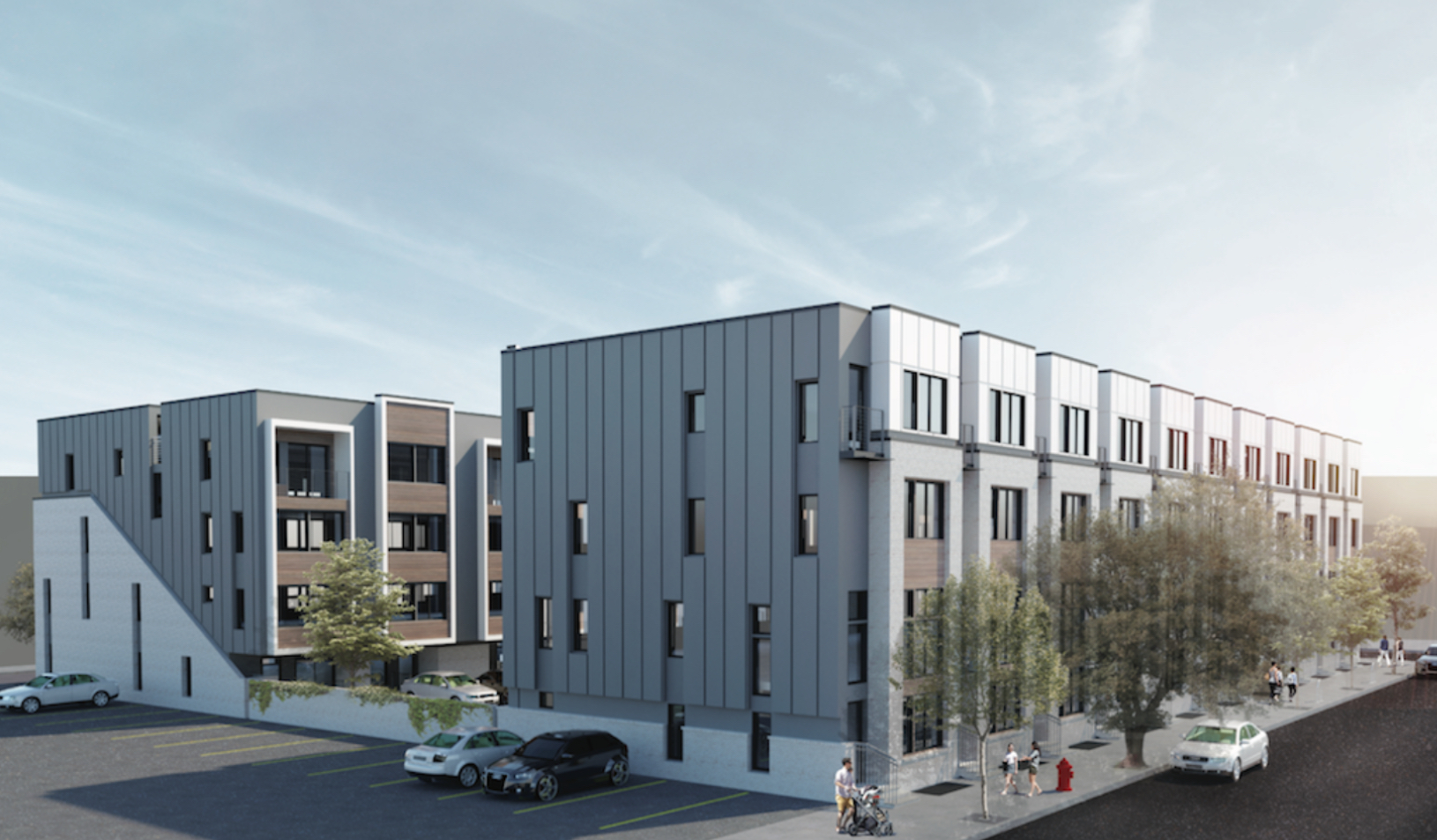 Rendering of 2600-40 East Hagert Street. Credit: HDO Architecture.