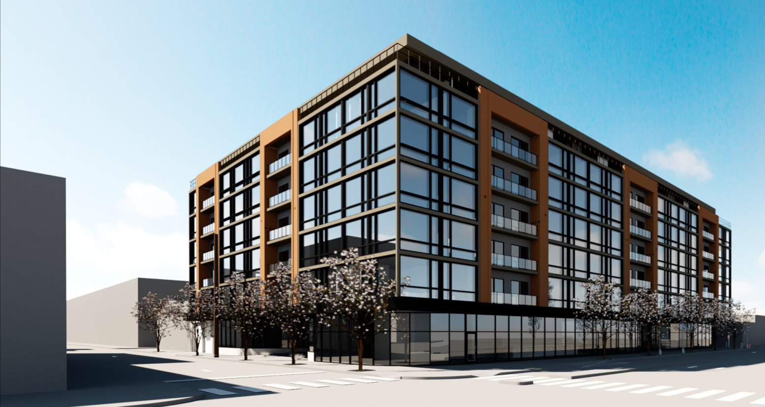 Rendering of 310 West Girard Avenue. Credit: T + Associates Architects.