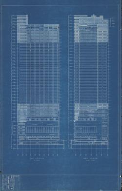 PSFS Building unfinished design. Image via philadelphiabuildings.org