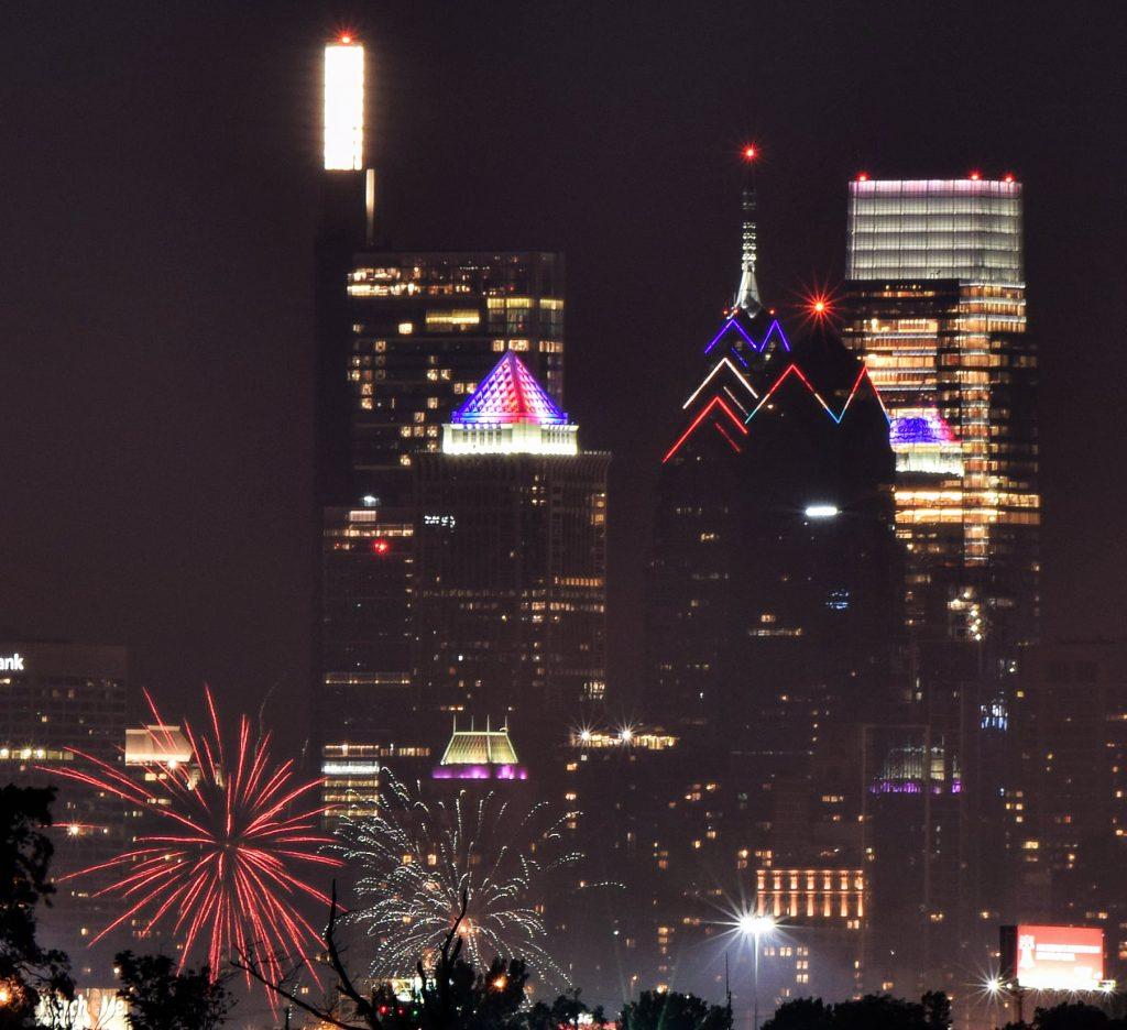 One Liberty Place from New Jersey. Photo by Thomas Koloski