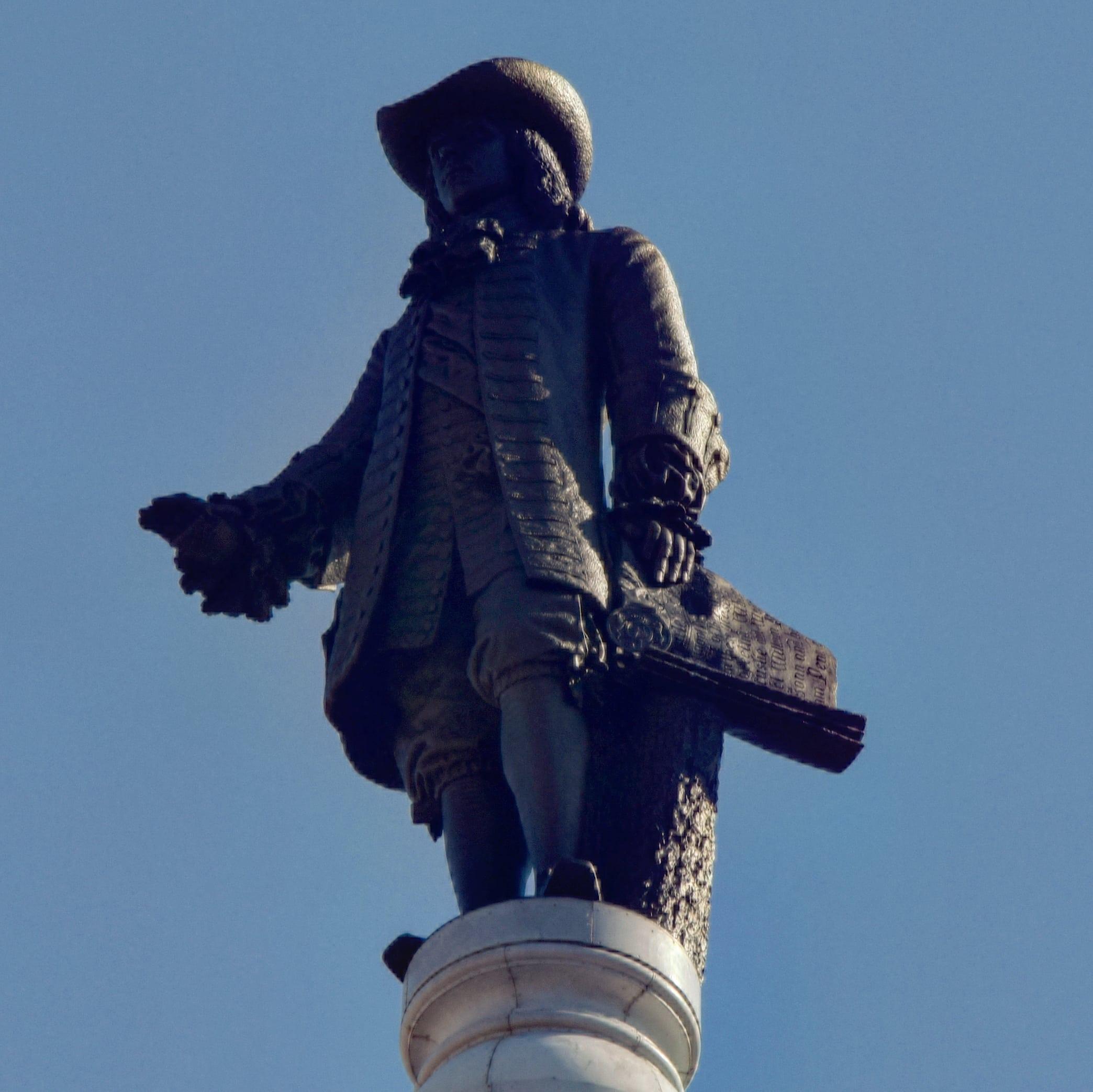 The William Penn statue atop City Hall. Photo by Thomas Koloski