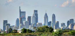 Philadelphia skyline from the Girard Point Bridge. Photo by Thomas Koloski