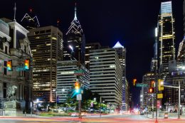 Center City towers from North Broad Street. Photo by Thomas Koloski