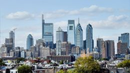 Center City from South Philadelphia 2020 and 2021. Photos by Thomas Koloski